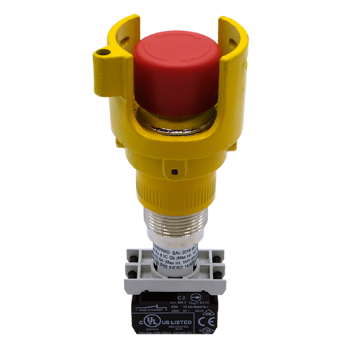 Explosionproof Emergency Pushbutton rotary release with guard for hazardous area Series EFRG