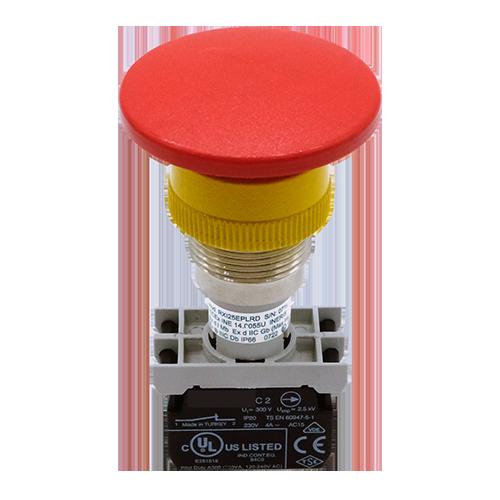Explosionproof Emergency Pushbutton spring return for hazardous area Series EF atex