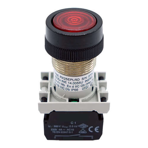 Explosionproof Lighting Pushbutton spring return for hazardous area series EPL