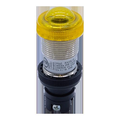 Explosionproof Pushbutton pilot light for hazardous area Series L