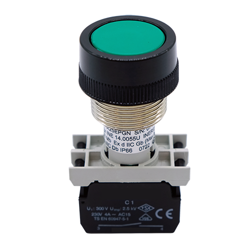 ATEX Pushbutton spring return up to 6 simoultaneous electrical contatcs