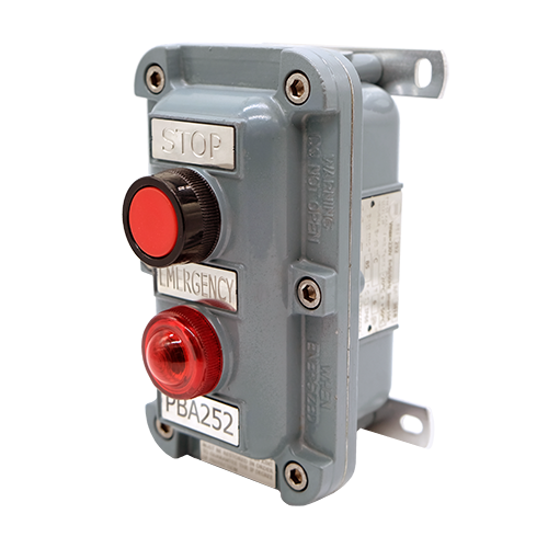 Pushbutton and control station PBA for hazardous area