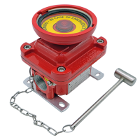E0L emergency explosion proof lighting pushbutton red painted hazardous area atex stainless steel
