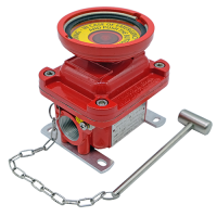 E1L emergency explosion proof lighting pushbutton red painted hazardous area atex
