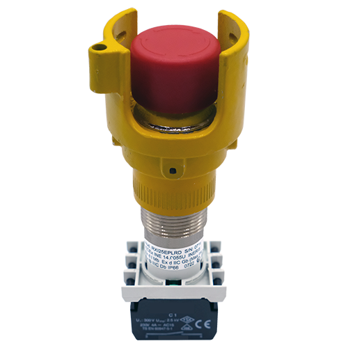 Explosionproof Emergency Pushbutton rotary release with guard for hazardous area Series EFR3G