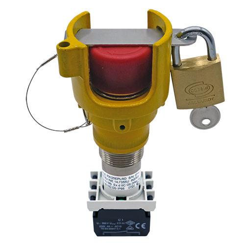Explosionproof Emergency Pushbutton rotary release with guard for hazardous area Series EFR3GL