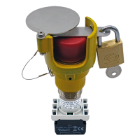 Explosionproof Emergency Pushbutton rotary release with guard for hazardous area Series EFR3GLP
