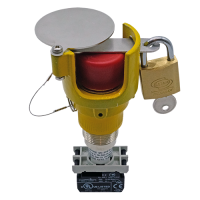 Explosionproof Emergency Pushbutton rotary release with guard for hazardous area Series EFRGLP
